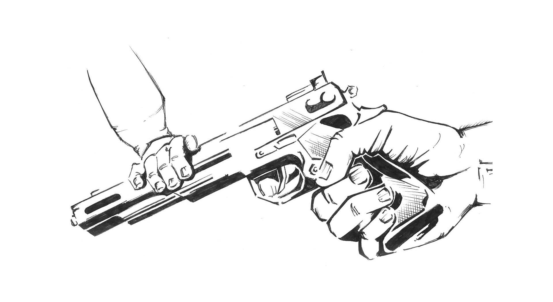 illustration de base au stylo