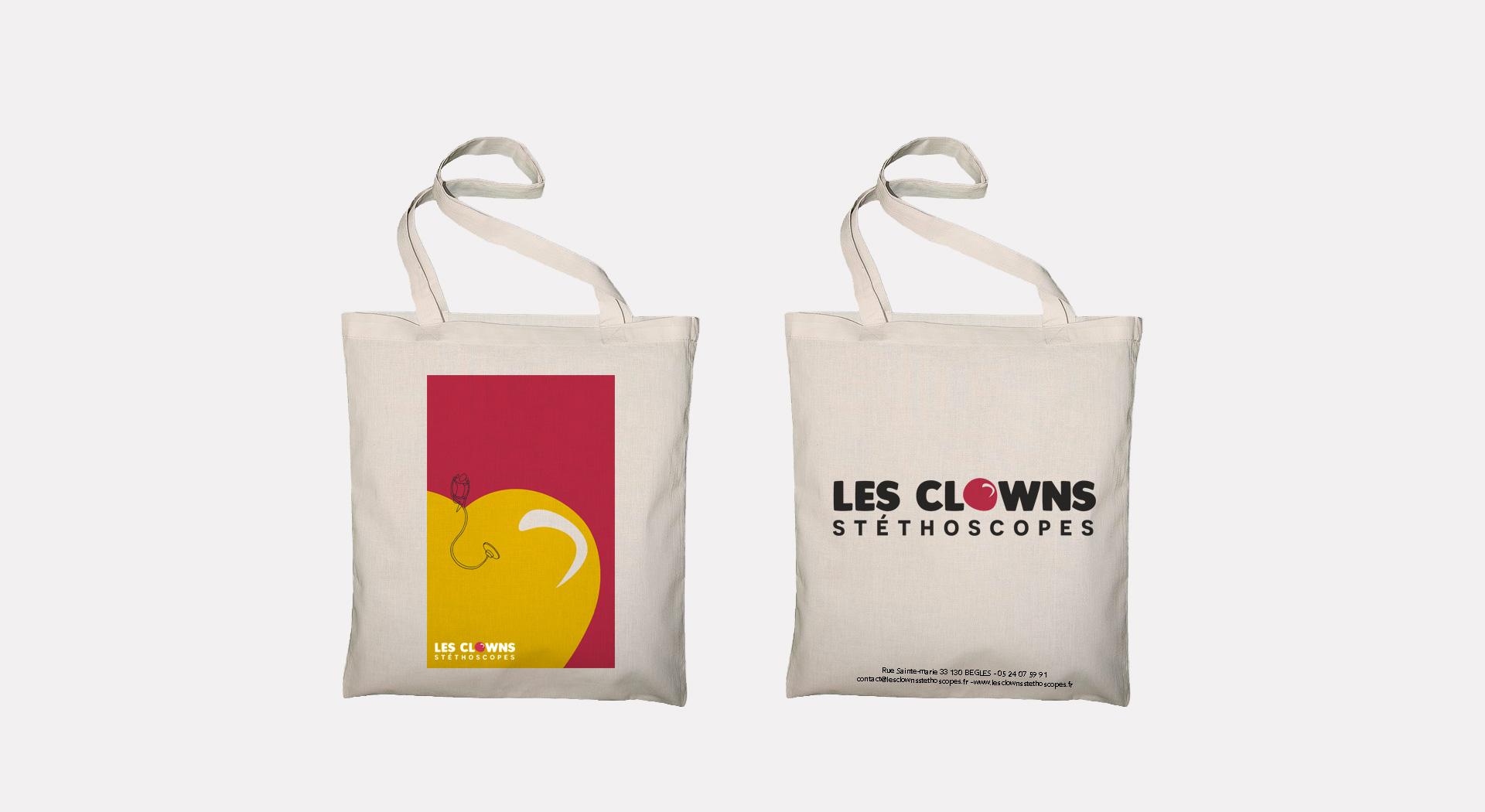Tote bag Les Clowns Stéthoscope